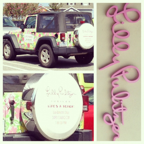 Lilly Pulitzer jeep!!!