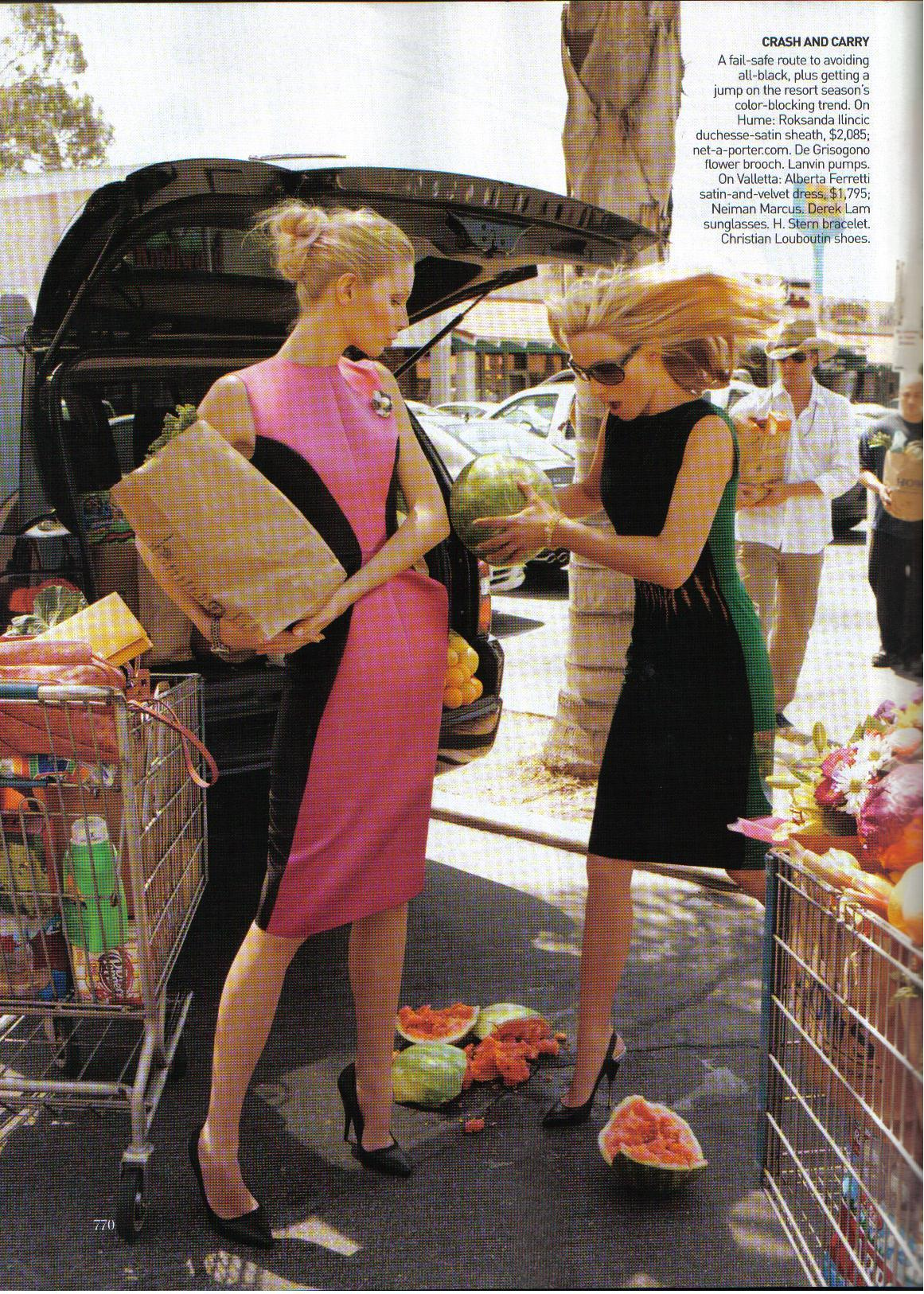 Amber Valetta and Kirsty Hume by Steven Meisel l Vogue US Sep2008