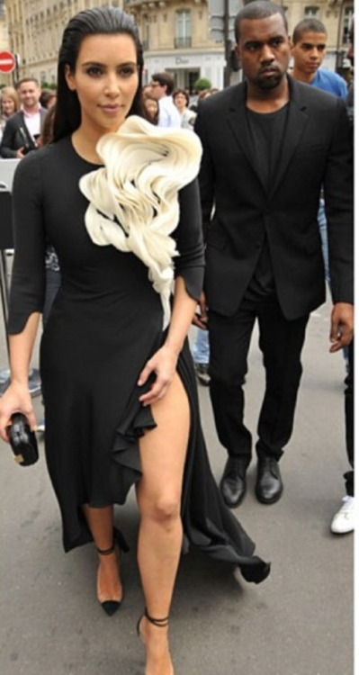 Kim is on point again. This dress is very different but I like it on Kim. She knows how to work it.