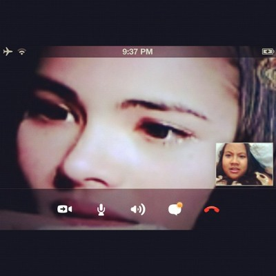 When you watching #thais #drama via #skype instead of #talking  (Taken with Instagram)