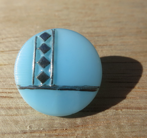 vintage glass button