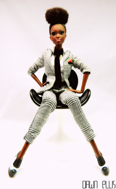 thatshybutrudegirl:  fuckyeahdollsofcolor:  Retro Cool by Dawn Ellis on Flickr.JANELLE MONAE WHAT?  Loving it!
