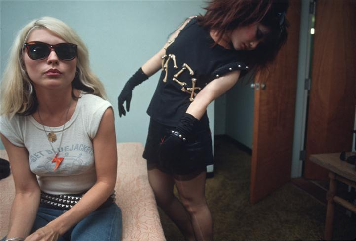 Debbie Harry and Anya Phillips photographed by Chris Stein