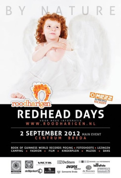 Latest promotional graphic for the forthcoming Redhead Day in September in Breda, Holland.