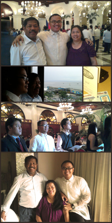 our architect's oath-taking at Manila Hotel.Thanks, Mom and Dad!