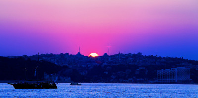 Sunset on the Bosphorus, Turkey / by sammsky