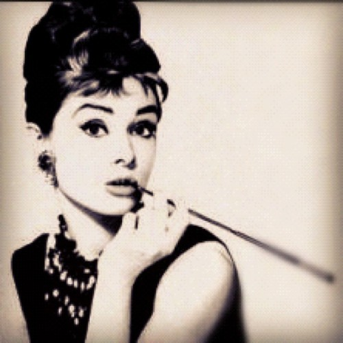"""Happy girls are the prettiest."" - Audrey Hepburn (Taken with Instagram)"