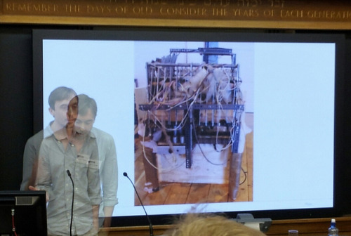 oramics machine on Flickr.Laurie Waller, with early synthesiser #sip2012