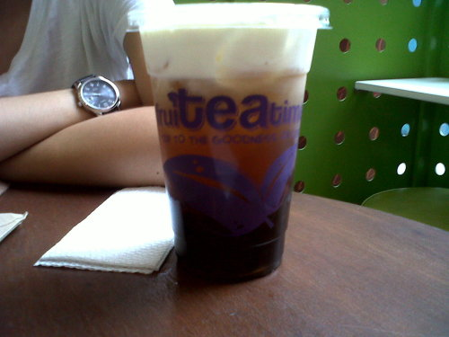 Rock salt & cheese toppings wintermelon tea for kukap! :)