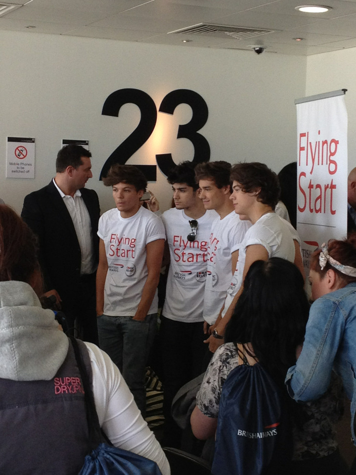 The boys in the airport today