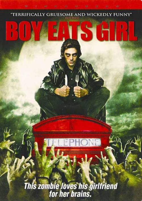 Boy Eats Girl (2005)  A boy declares his love for his girlfriend, only to die the same night. He is brought back to life by his mother as a flesh-craving zombie, who sires more teen undead while trying to control his, er, appetite for his beloved.  Cast: Samantha Mumba, David Leon, Tadhg Murphy Follow this blog for the neverending list of all the teen movies ever made!