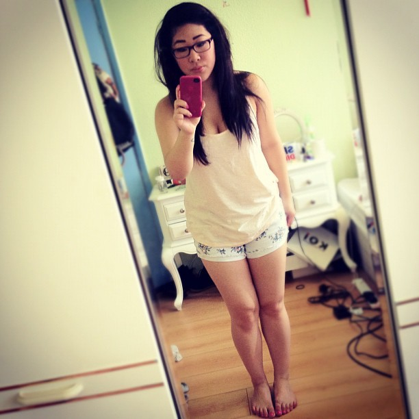 Hallo. #summer #shorts #floral #peach #ootd #me #self #july  (Taken with Instagram)