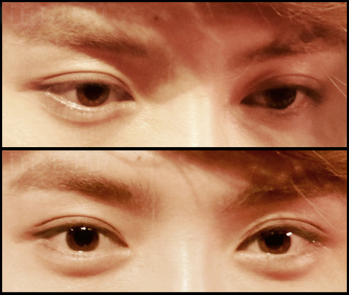@LuhanluTumblr  Luhan's eyes photo by baeGy (do not modify or remove logo)