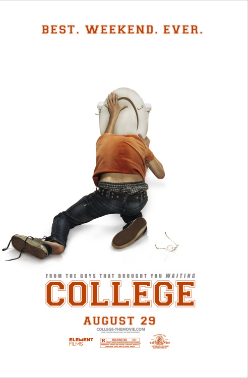 College (2008)  After Kevin (Drake Bell), a high school senior, gets dumped by his girlfriend Gina (Alona Tal) for being too boring, he doesn't want to go to the freshman orientation weekend at Fieldmont University, where they had planned to go together. But his best friends Carter (Andrew Caldwell) and Morris (Kevin Covais) convince him that the weekend away will help get his mind off her. Once there, one of the rowdiest Fraternities and sororities fraternities on campus pretends to recruit them as pledges in return for granting them access to the college party scene. Though forced to put up with the disgusting antics of fraternity brothers Teague (Nick Zano), Bearcat (Gary Owen), and Cooper (Zach Cregger), the guys meet sorority girls Kendall (Haley Bennett), Heather (Camille Mana), and Amy (Nathalie Walker), and sparks fly. But once Teague feels threatened by Kevin's new relationship with Kendall, he takes the pre-frosh humiliation to a greater level, forcing the guys to decide to fight back.  Cast: Drake Bell, Andrew Caldwell, Nathalie Walker, Camille Mana, Haley Bennett Follow this blog for the neverending list of all the teen movies ever made!