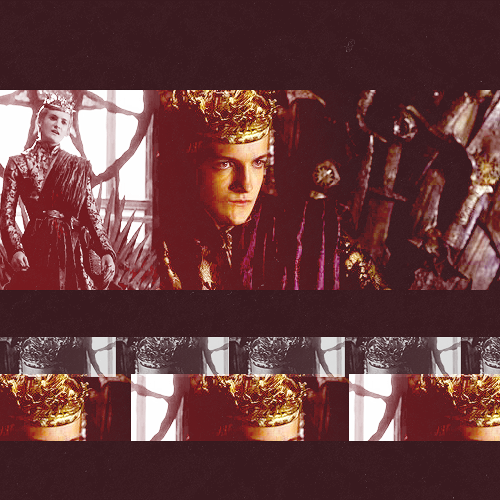 got meme —> 02. two outfits (2/2) one of joffrey baratheon's many ridiculous brocade and sash outfits