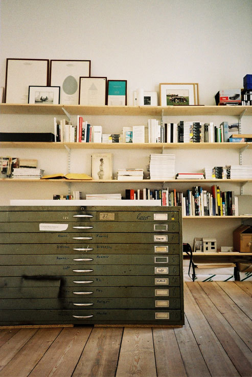 I need one of those flat file cabinets.