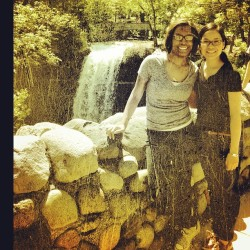 @chiarooscuro86 & Me in #minnesota #minnihahafalls #nature #friends #vacation #grunge #photo #instagram #water #waterfall   (Taken with Instagram)