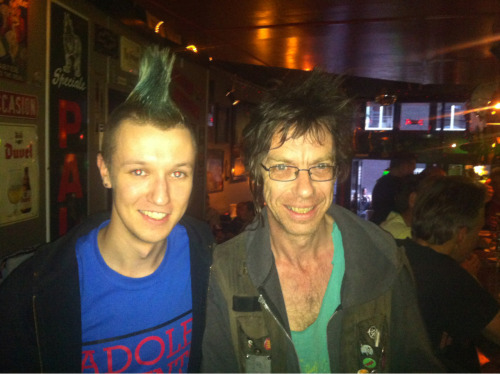 Me and dickie! Going to the subhumans show…. NOW!!