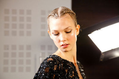 kloss-karlie:  Fall 2012 CoutureElie Saab - Backstage