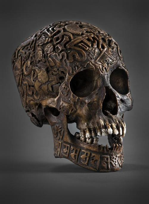 luzi-pher:  Ancient Tibetan engraved skull