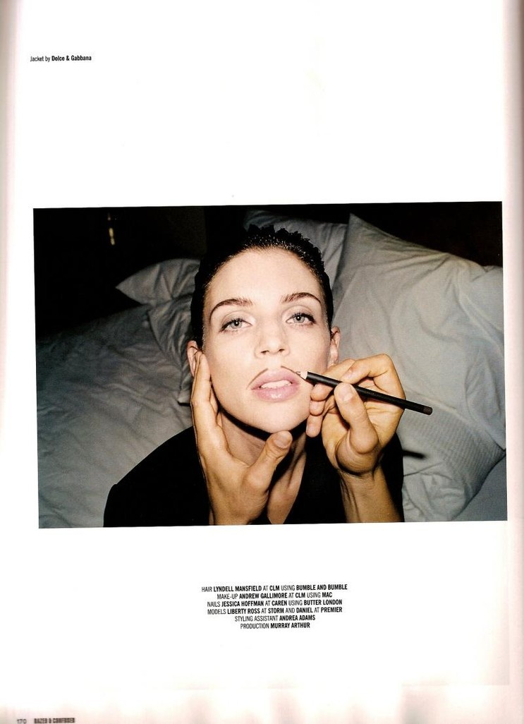 Liberty Ross Photographed by Matt Irwin for DAZED & CONFUSED November 2007