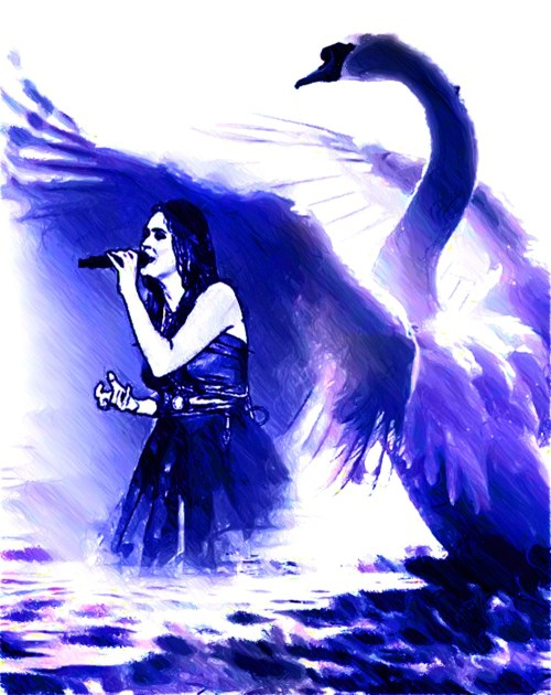 Sharon Den Adel drawing - Singer of Within Temptation