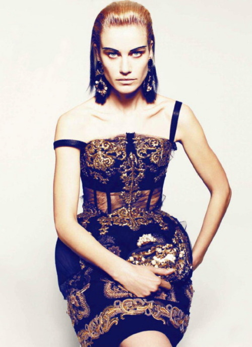 dolcegabbana:  Delfine Bafort in Dolce&Gabbana FW13 for Marie Claire Us, August 2012