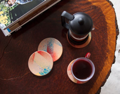 littlecraziness:  (via diy project: leather staining — coasters | Design*Sponge)