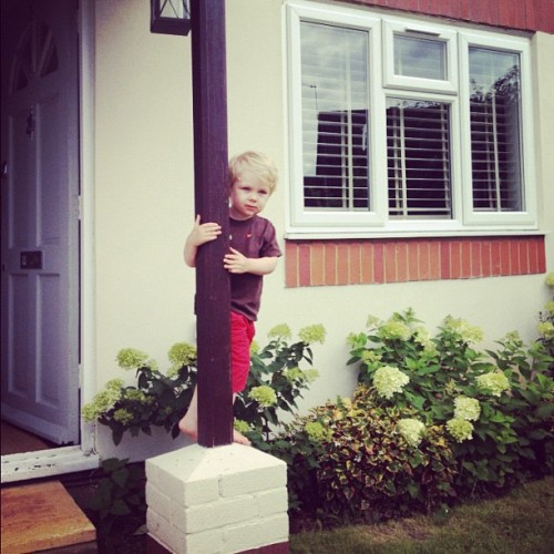 Peter Climbing. #boys (Taken with Instagram)
