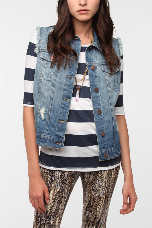 BDG Cutoff Denim Trucker Vest $59.00