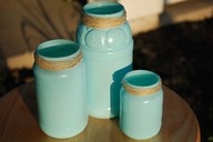Painted jars with twine