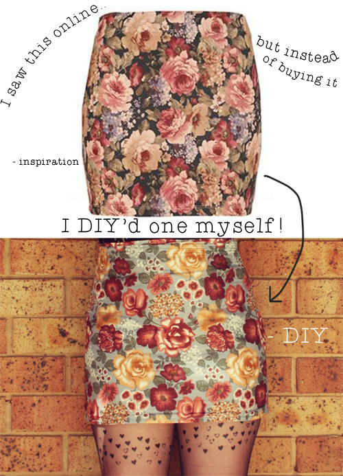 littlecraziness:  (via The Pineneedle Collective: Make Yourself a Floral Pencil Skirt)