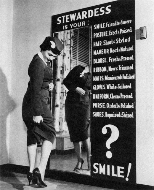 Could you cut it to be an airline stewardess in the 1940s? Check yourself…