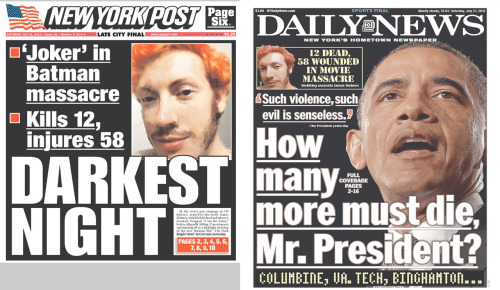 "New York Post: ""while a case can be made for stronger national gun laws, it needs to be advanced with profound respect for the constitutional issues involved."" New York Daily News: ""the presidential takeaway should have been a drive for strengthened gun control, if only for the assault weapons ban."""