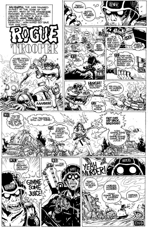 2000adonline:  orcstain:  Rogue Trooper gets hooked on the juice.  Oh my.   Gimme some juice! Yeah, murder!