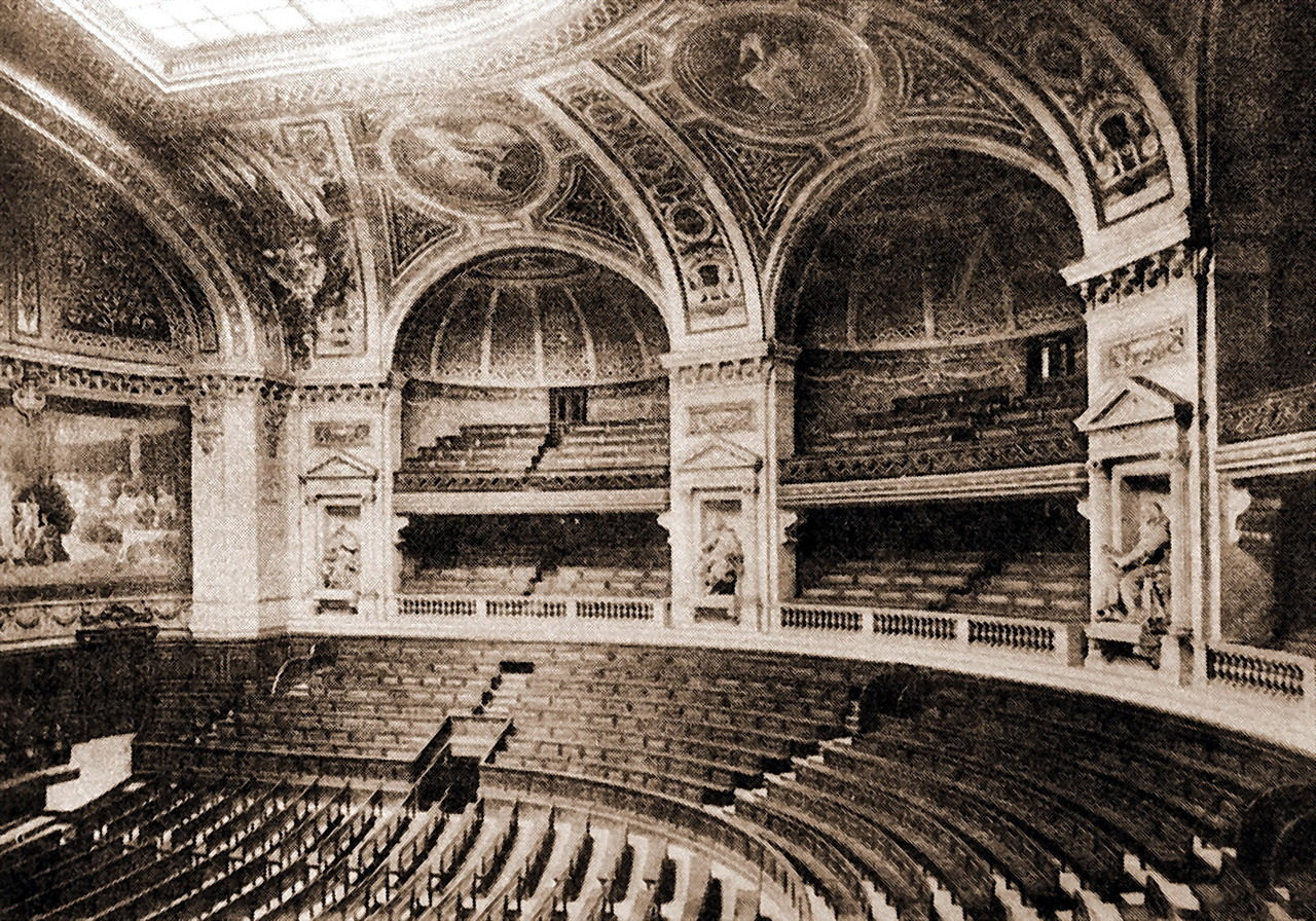 Inside the Grand Amphithéâtre of the Sorbonne, Paris