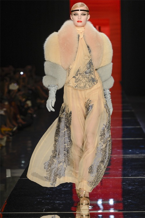 Sigrid Agren at Jean Paul Gaultier Haute Couture F/W 2012-13.