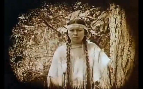 girljanitor:  Lost silent film with all-Native American cast found  The Daughter of Dawn, an 80-minute feature film, was shot in July of 1920 in the Wichita Mountains Wildlife Refuge near Lawton, southwest Oklahoma. It was unique in the annals of silent film (or talkies, for that matter) for having a cast of 300 Comanches and Kiowas who brought their own clothes, horses, tipis, everyday props and who told their story without a single reference to the United States Cavalry. It was a love story, a four-person star-crossed romance that ends with the two main characters together happily ever after. There are two buffalo hunt sequences with actual herds of buffalo being chased down by hunters on bareback just as they had done on the Plains 50 years earlier. The male lead was played by White Parker; another featured female role was played by Wanada Parker. They were the son and daughter of the powerful Comanche chief Quanah Parker, the last of the free Plains Quahadi Comanche warriors. He never lost a battle to United States forces, but, his people sick and starving, he surrendered at Fort Sill in 1875. Quanah was the son of Comanche chief Peta Nocona and Cynthia Ann Parker, the daughter of Euro-American settlers who had grown up in the tribe after she was kidnapped as a child by the Comanches who killed her parents. She was the model for Stands With a Fist in Dances with Wolves.  You can watch the first ten minutes of the film here. It is over 90 years old, and was produced by, directed by, and stars only Native American people.