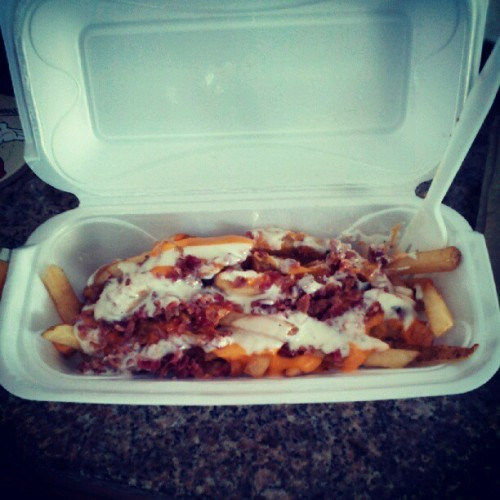 Bacon chedder ranch fries mmmm (Taken with Instagram)