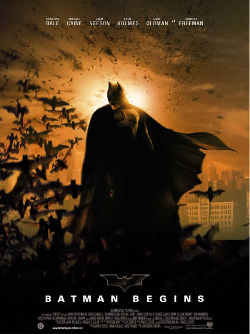 #385/#102 Batman Begins (Rewatch) When billionaire Bruce Wayne (Christian Bale) witnesses the death of his parents as a child, he begins a journey that sends him to the ends of the earth in search of training so that he can ultimately return to Gotham City and take up the mantle of the Batman. This film came at just the right time to keep the Batman movie franchise going. The terrible memories of Batman and Robin were still fairly fresh in the minds of the movie going public so Warner Brothers decided to take a chance, giving this franchise to Christopher Nolan and allowing him to go in an unproven direction. This has paid out wonderfully for everyone involved. Nolan getting to do more kickass films (including getting Inception green-lit as one of the eventual benefits), the studio raking in the cash and the public getting a batman series worth watching. Batman Begins gave us something we hadn't really gotten before. It gave us a superhero movie rooted in the real world and it provided the first worthwhile film version of Batman's origins. All previous attempts either only mentioned his parents deaths in passing or showed some brief flashbacks. This film shows us the origins, the training and the resolve Wayne had to obtain before becoming the dark knight, making it a strong movie and an even stronger first part of an eventual trilogy.  One of the strongest elements of this movie was the casting with Bale handling the duel roles of Wayne and Batman fantastically, truly showing how one became the other over time. Silly Batman voice but you can see what he was trying to do with it. Additionally, Micheal Caine and Morgan Freeman both add an element of humour to these fairly dark films and Gary Oldman (while a little lacking this time around) does establish himself to be a larger part of the next. Liam Neeson also handles his role well, portraying a believable mentor figure and yet an equally calculated villain. The only weak link overall, I think was Katie Holmes as Rachel. There's nothing wrong with her performance but her role could have been filled by any competent actress and nothing would be missed. This is going long so I'll just say the direction, the effects, the stunts, the action, the sets, the cinematography and the music are all equally as engaging as the actors in this picture and that they all come together to make a fantastic overall product. This film is only marred by the fact that its sequel shines so brightly that it pales in comparison. 4.5/5