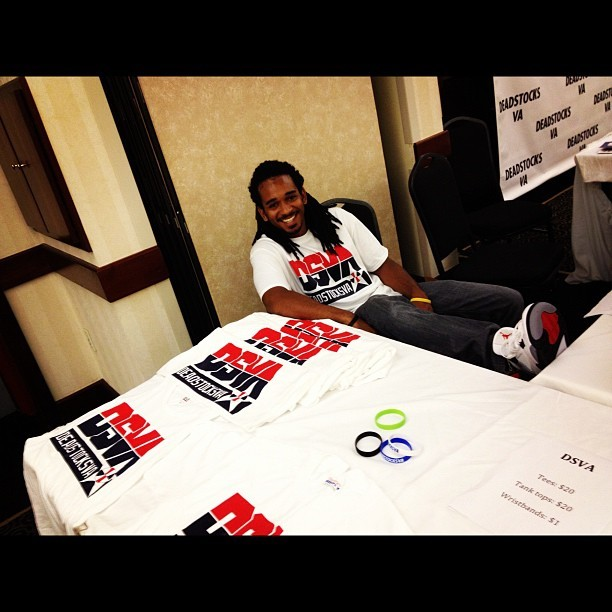 @dreadhead19 hard at work ? Dsva fam #igsneakercommunity #swag #va #event #nike #nikeallday  (Taken with Instagram)