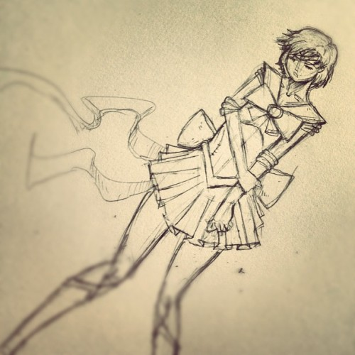 Next close up sketch. #sailormercury #sketch #art #manga #anime #sailormoon  (Taken with Instagram)