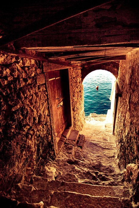 Ancient Passage to the Sea, Greece photo via ashley