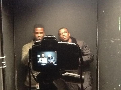 'Behind the scenes' photo of the #Whu-Wud-Nu video by @OfficialNema   Beat produced by @DarkstarMusik  Video produced by Magician for METHFILMS  ***video out late July***  (In this picture) On the left @OfficialNema  On the right @NO_K0MENT