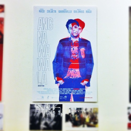 @angnawawala official poster photographed by Everywhere We Shoot / design by AJ Dimarucot #photography #work #indie #film #poster  (Taken with Instagram at Cultural Center of the Philippines)