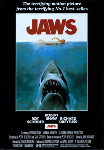 Jaws, 5/5 Info1975, Directed by Steven Spielberg, Screenplay by Peter Benchley & Carl Gottlieb, Based on the novel Jaws by Peter Benchley, Starring Roy Scheider, Richard Dreyfuss, Robert Shaw Thoughts56 on AFI 100.  Never seen before.  More terrifying/awesome than expected.  Suspense builds brilliantly.  Masterwork.  Not terribly dated.  Deserving of the hype and legacy.  Shocked by the PG rating! I'm thrilled by movies that are able to actually surprise, and I'm stupidly astonished by how often older movies do it more effectively than newer movies.  Great films from the past are still great films – how 'bout that!?  Jaws makes me nostalgic for a more deliberate and patient type of film-making, and a better crafted film-watching experience.  Is the suspense genre totally dead?