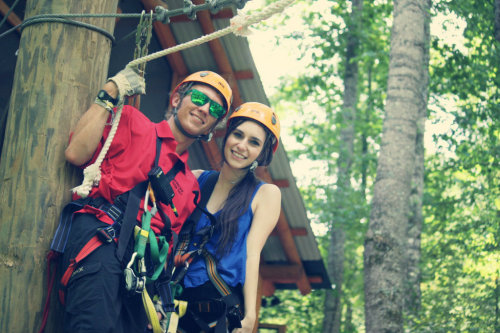 just another casual day of zip-lining and being happy 'n stuff :D