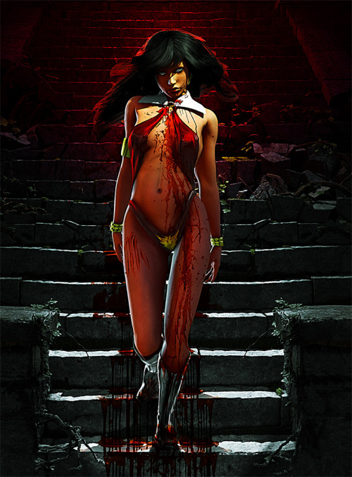 you-know-something-mean-gene:  Vampirella by *archangelgabriel