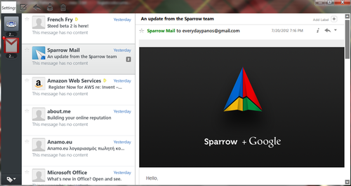 Shh.. Sparrow for Windows was just a few weeks away.