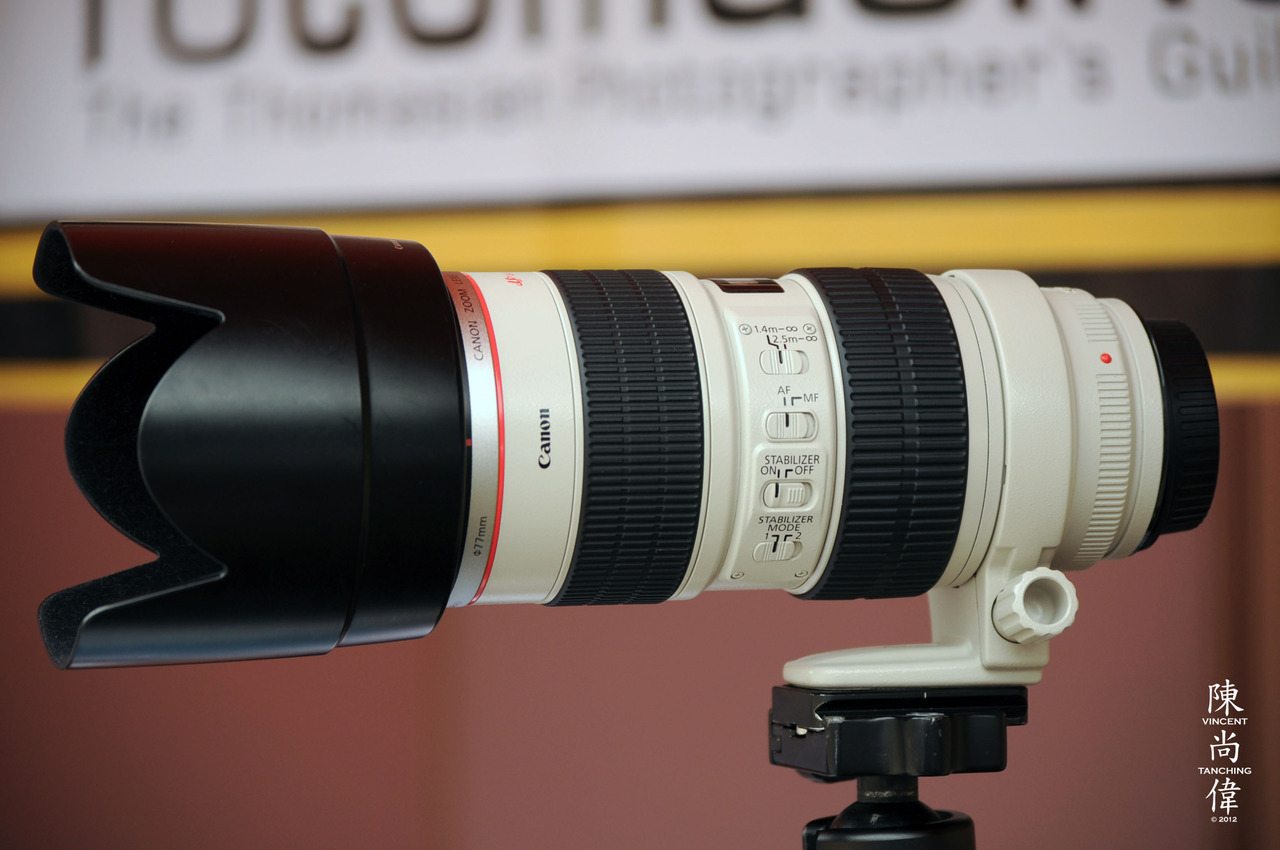 """CANON EF 70-200mm f/2.8 L IS USM"" I am a Nikon-user by heart, but when it comes to full-frame cameras and lenses, it's another story. I've used this lens on a Canon 5D Mark III body, and may I say that it is so sharp. Pin sharp. And the color rendition of the lens is just amazing. If I was a Canon user and if was shooting full-frame, this would probably also my weapon of choice. :)  Shot using a NIKON D5000AF-S DX VR Zoom-NIKKOR 55-200mm F/4-5.6G IF-ED75mm F/4.2ISO 1000EXPOSURE TIME 1/320"